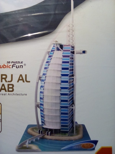 rompecabezas 3d cubicfun burj al arab dubai emiratos arabes(