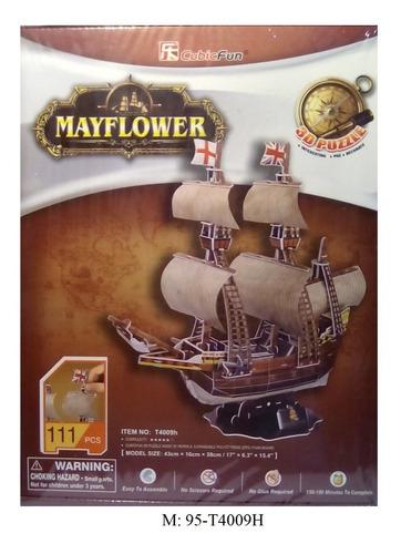 rompecabezas 3d cubicfun carabela mayflower  (serie t)