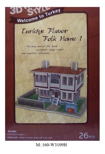 rompecabezas 3d cubicfun casa típica de turquía (w3109h)