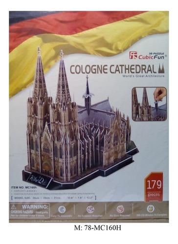 rompecabezas 3d cubicfun catedral de colonia alemania (serie