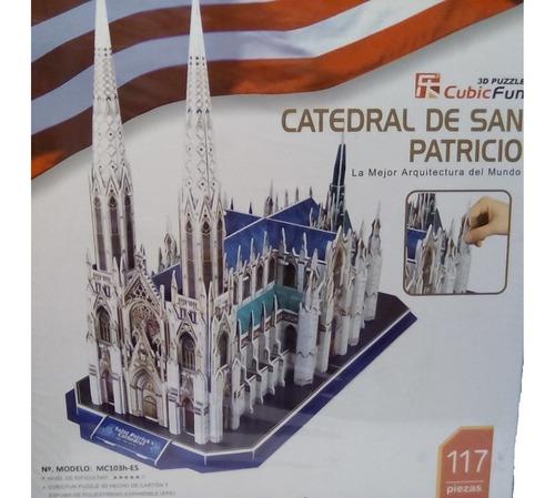rompecabezas 3d cubicfun catedral de san patricio en n.y.