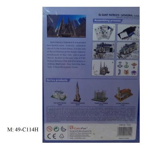 rompecabezas 3d cubicfun catedral de san patricio (serie c )
