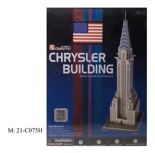 rompecabezas 3d cubicfun chrysler building (serie c )