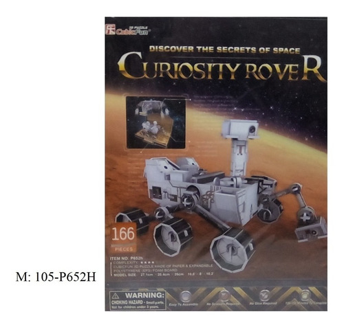 rompecabezas 3d cubicfun curiosity rover (serie p )