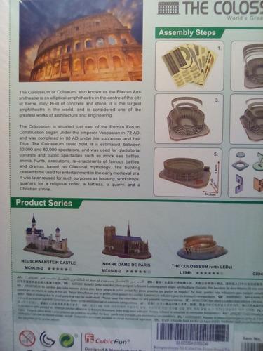 rompecabezas 3d cubicfun el coliseo de roma (serie mc)