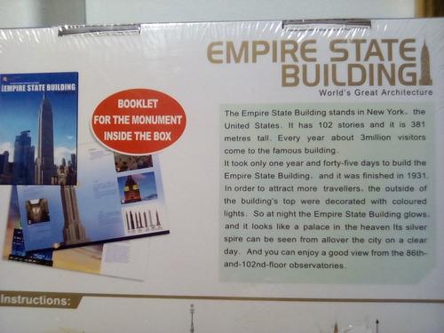 rompecabezas 3d cubicfun el empire state new york (serie mc)