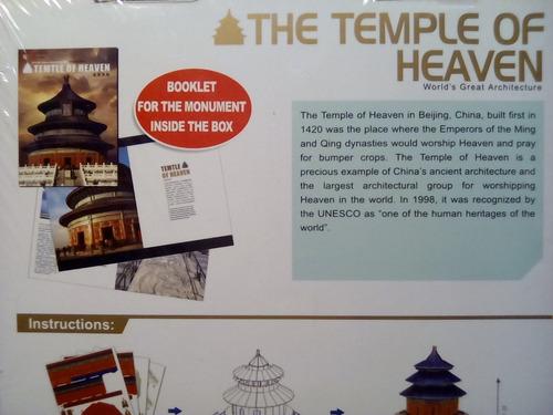 rompecabezas 3d cubicfun el templo del cielo beijing china (