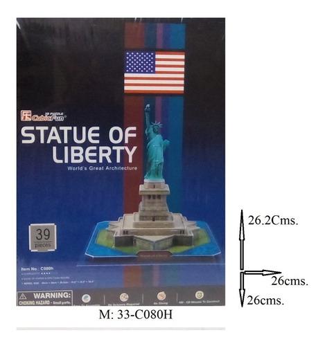 rompecabezas 3d cubicfun estatua  libertad n.y. (serie c )