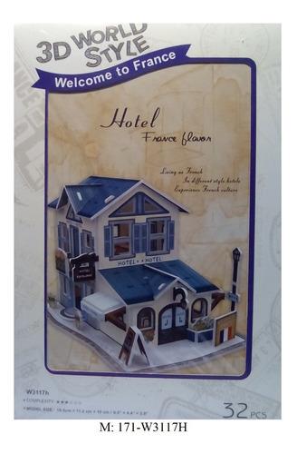 rompecabezas 3d cubicfun hotel frances (w3117h)