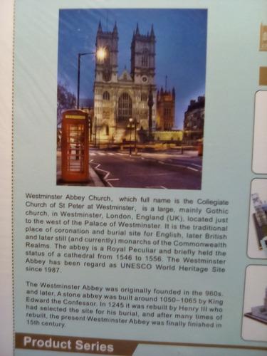 rompecabezas 3d cubicfun la abadia de westminster (serie mc)