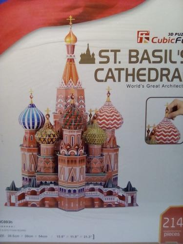 rompecabezas 3d cubicfun la catedral de san basilio moscú(se