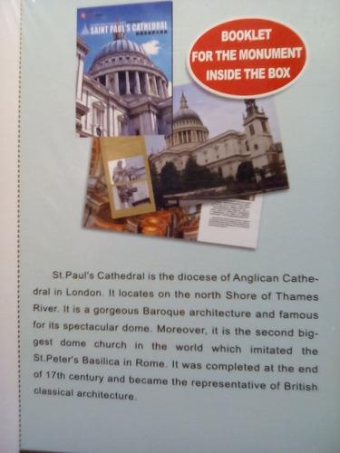 rompecabezas 3d cubicfun la catedral de san pablo londres. (