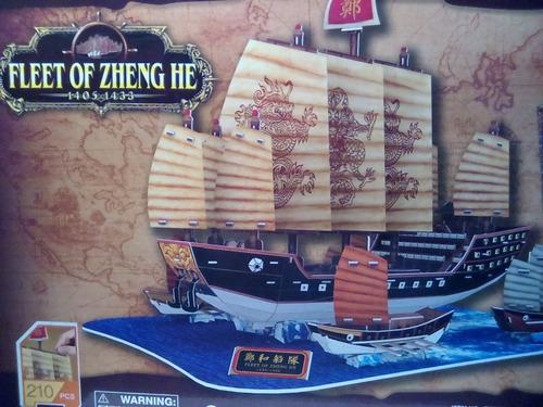 rompecabezas 3d cubicfun la flota de zheng he(t4016h)