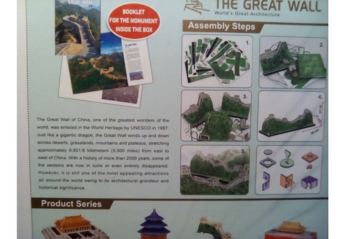 rompecabezas 3d cubicfun la gran muralla china (serie mc)