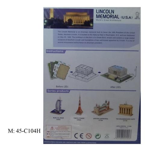 rompecabezas 3d cubicfun lincoln memorial (serie c )