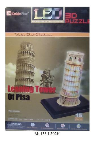 rompecabezas 3d cubicfun luzled  torre de pisa(l-502h)