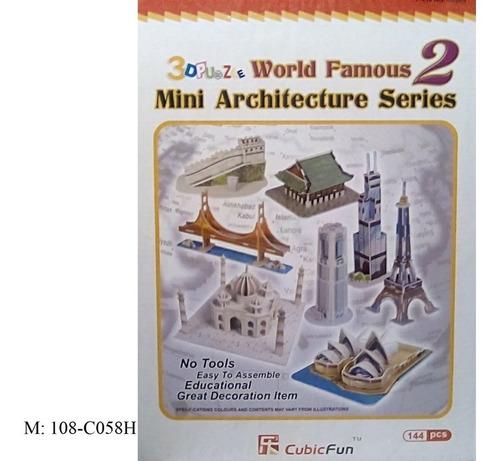 rompecabezas 3d cubicfun mini arquitecturas serie 2 (serie c