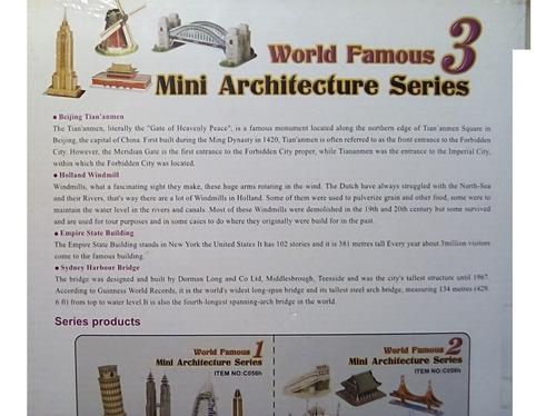 rompecabezas 3d cubicfun mini arquitecturas serie 3 (serie c