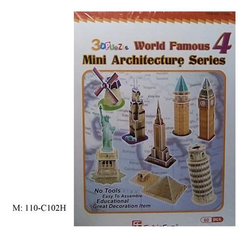 rompecabezas 3d cubicfun mini arquitecturas serie 4 (serie c