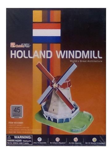 rompecabezas 3d cubicfun molino holandés(serie c)