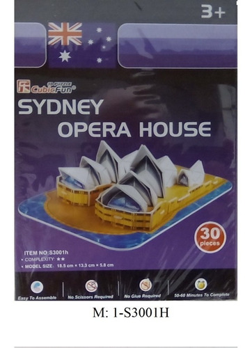 rompecabezas 3d cubicfun opera sydney serie s (pieza)