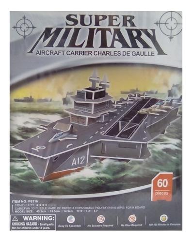 rompecabezas 3d cubicfun portaaviones charles de gaulle (ser