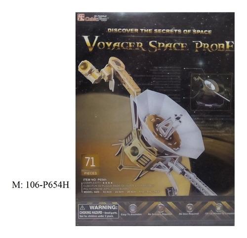 rompecabezas 3d cubicfun probador espacial voyager (serie p