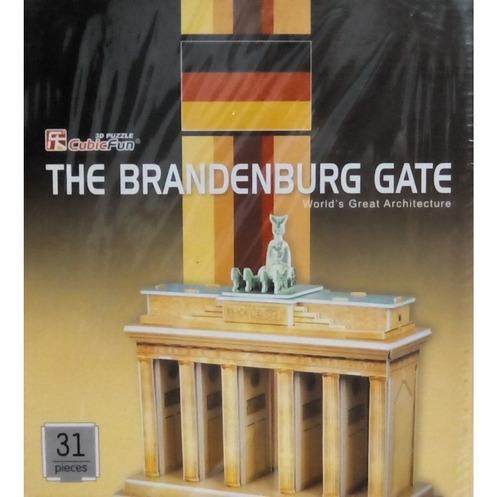 rompecabezas 3d cubicfun puerta de brandenburgo (serie c )