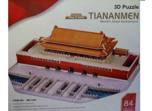 rompecabezas 3d cubicfun tian an men beijing china (serie mc