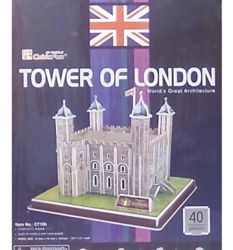 rompecabezas 3d cubicfun torre de londres (serie c)