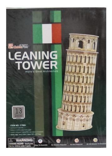 rompecabezas 3d cubicfun torre de pisa italia (serie c )