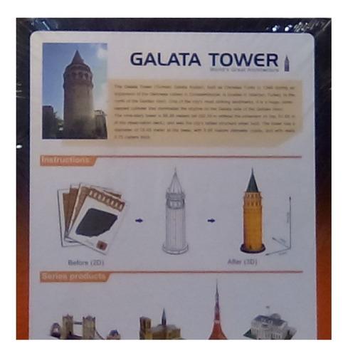 rompecabezas 3d cubicfun torre galata turquia (serie c)