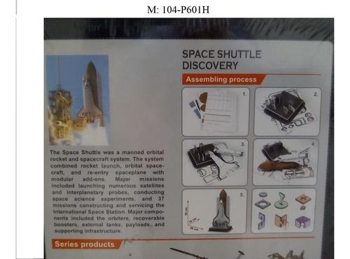 rompecabezas 3d cubicfun transbordador espacial discovery (s