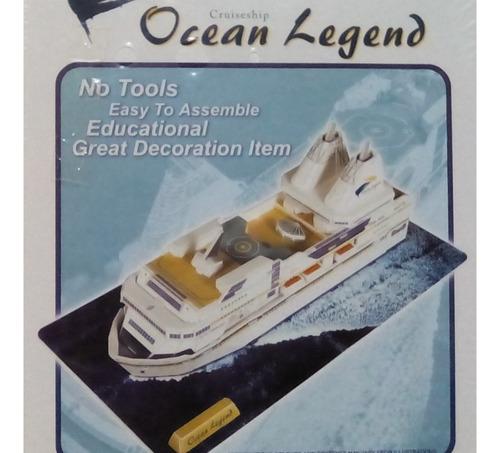 rompecabezas 3d cubicfun yate leyenda del oceano (serie c )