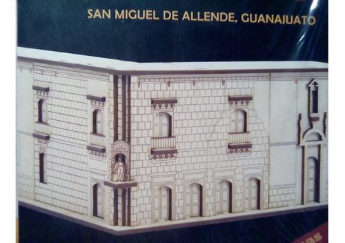 rompecabezas 3d dante de madera casa de allende  guanajuato