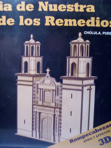 rompecabezas 3d dante de madera iglesia de los remedios