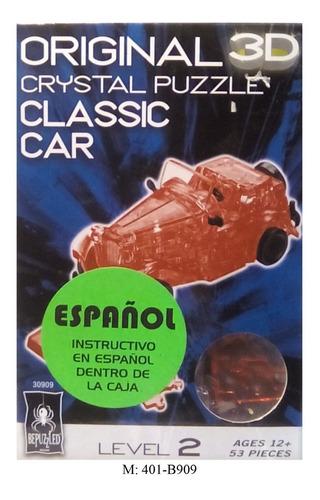 rompecabezas 3d de acrilico transparente carro antiguo