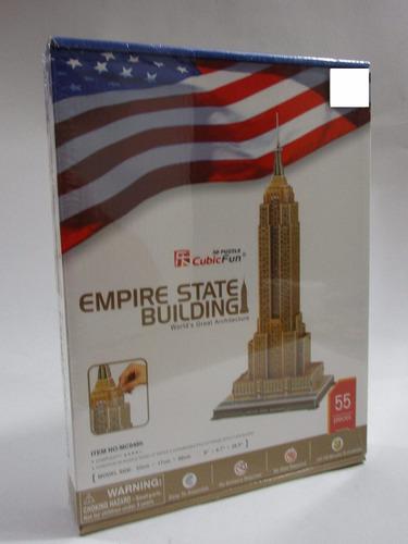 rompecabezas 3d edificio empire state usa juego didactico
