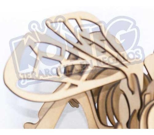 rompecabezas 3d, figura abeja armable, excelente regalo