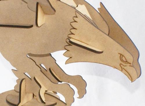 rompecabezas 3d, figura aguila armable, regalo decorativo