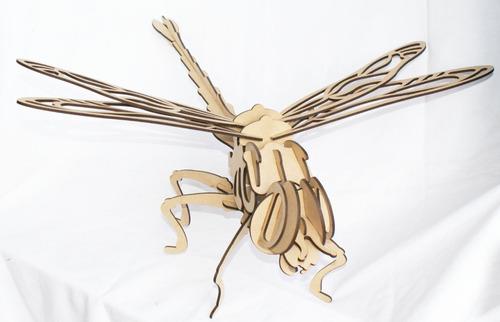 rompecabezas 3d, figura libélula armable, coleccionables