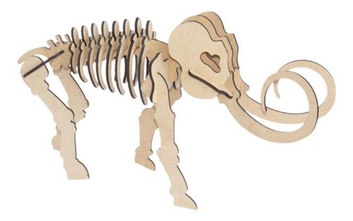 rompecabezas 3d, figura mamut armable, regalo original