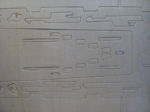 rompecabezas 3d hong ping  de madera  barco portaaviones