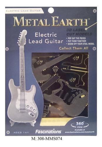 rompecabezas 3d metal fascinations guitarra eléctrica
