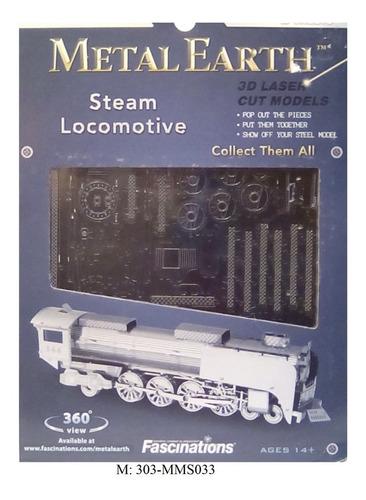 rompecabezas 3d metal fascinations máquina de vapor