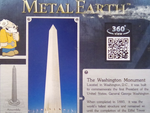 rompecabezas 3d metal fascinations monumento a washington