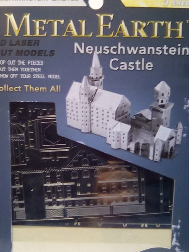 rompecabezas 3d metal fascinations neuschwanstein