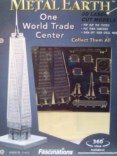 rompecabezas 3d metal fascinations one world trade center