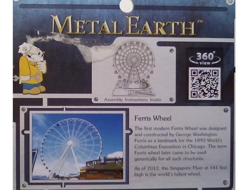 rompecabezas 3d metal fascinations rueda de la fortuna