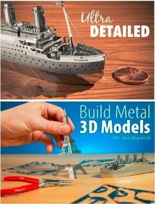 rompecabezas 3d metal puzzle architecture piramide maya